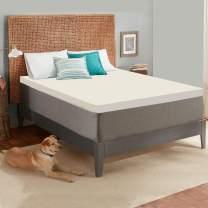 Continental Sleep 2-Inch High Density Foam Topper,Adds Comfort to Mattress, Queen Size