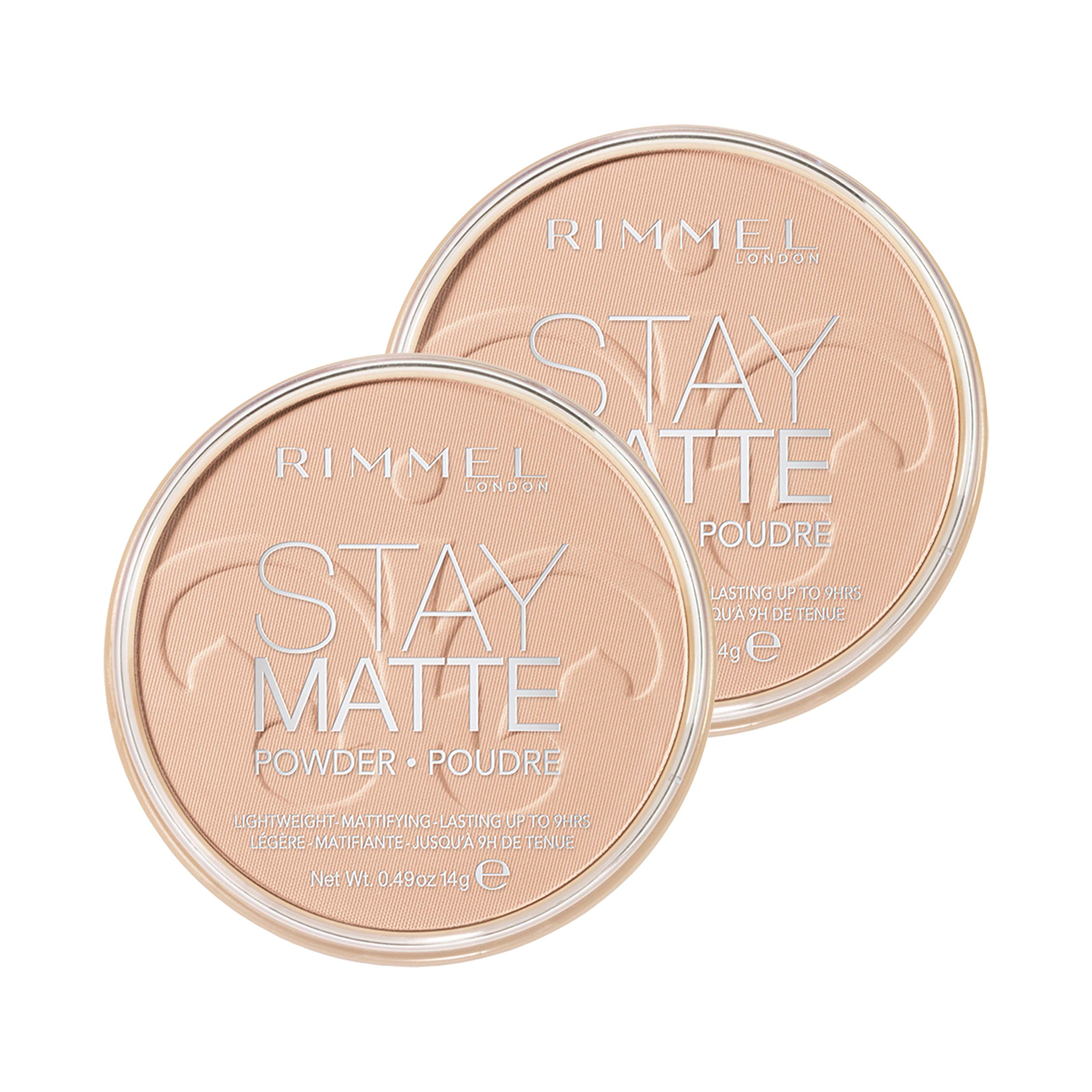Rimmel Stay Matte Pressed Powder, Natural, 0.49 Ounce (Pack of 2)