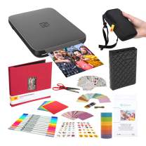 Lifeprint 3x4.5 Portable Photo and Video Printer (Black) Scrapbook Bundle Deluxe