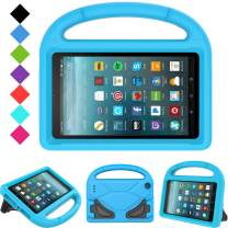 "Kids Case for All-New Fire 7 2019/2017 - TIRIN Light Weight Shock Proof Handle Kid–Proof Cover Kids Case for Amazon Fire 7 Tablet (9th/ 7th/ 5th Generation, 2019/2017/ 2015 Release)(7"" Display), Blue"