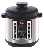 Fissler FISS-03520006001 Pot, Pressure, 6-Quart, Stainless Steel, Slow-Cooker, Multi-Use, Sous Vide, Rice, Steamer, Sauté-18 1-Touch Programs, 6 quart