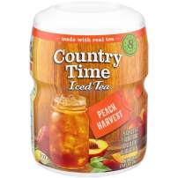 Country Time Sugar-Sweetened Peach Tea Drink Mix (19 oz Canisters, Pack of 12)