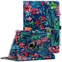"""Fintie Case for iPad 7th Generation 10.2 Inch 2019-360 Degree Rotating Smart Stand Protective Back Cover, Supports Auto Wake/Sleep for iPad 10.2"""" 2019 Tablet, Jungle Night"""