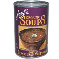 One 14.5 oz Amy's Organic Soup Low Fat Black Bean Vegetable