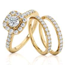 1 Carat Diamond Engagement Ring - IGI Certified 14 Karat Yellow Gold Diamond Ring for Women Diamond Engagement Ring by Beverly Hills Jewelers