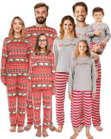 QUNISY Family Matching Christmas Pajamas Set Pyjamas Xmas Sleepwear Holiday Pjs Polar Bear