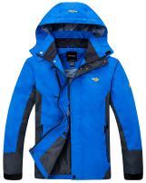 Wantdo Men's Rain Jacket Breathable Hiking Coat Mountain Insulated Windbreaker