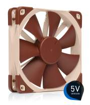 Noctua NF-F12 5V, Premium Quiet Fan with USB Power Adaptor Cable, 3-Pin, 5V Version (120mm, Brown)