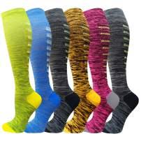 Compression Socks Women & Men 20-30 mmHg Best Athletic & Medical Running Flight Travel Pregnant