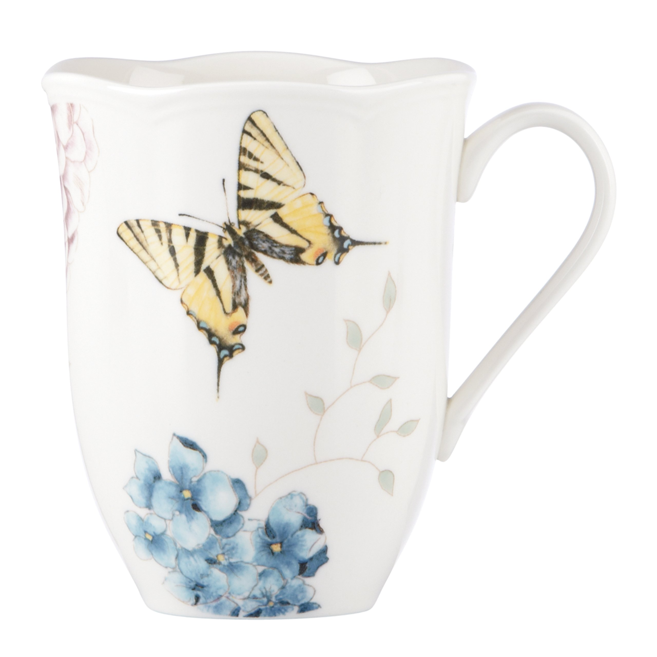 Lenox Butterfly Meadow Hydrangea Mug, 0.4 LB, Multi