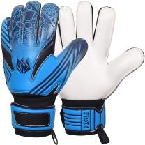 FitsT4 Kids Goalie Gloves Soccer Goalkeeper Gloves with Double Wrist Protection and Non-Slip Wear Resistant Latex to Give Protection to Prevent Injuries