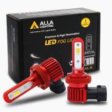 Alla Lighting 5200lm AL-R H8 H11 LED Fog Light Bulb Xtreme Super Bright H16, 3000K Amber Yellow
