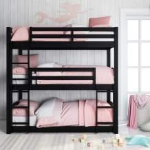 Dorel Living Sierra Triple Floor Bunk Bed   Black   DL7891TBBB model