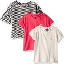 Limited Too Girls' 3 Pack Short Sleeve Classic T-Shirt Set