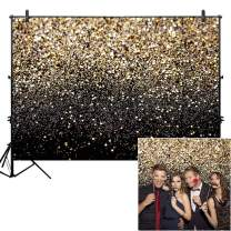 ZGWJ Gold Glitter Photo Backdrop Sequin Spot Photo Booth Background Starry Sky Shining Party Birthday Prom Wedding Newborn Photography Studio Props Party Decor(8x6ft)