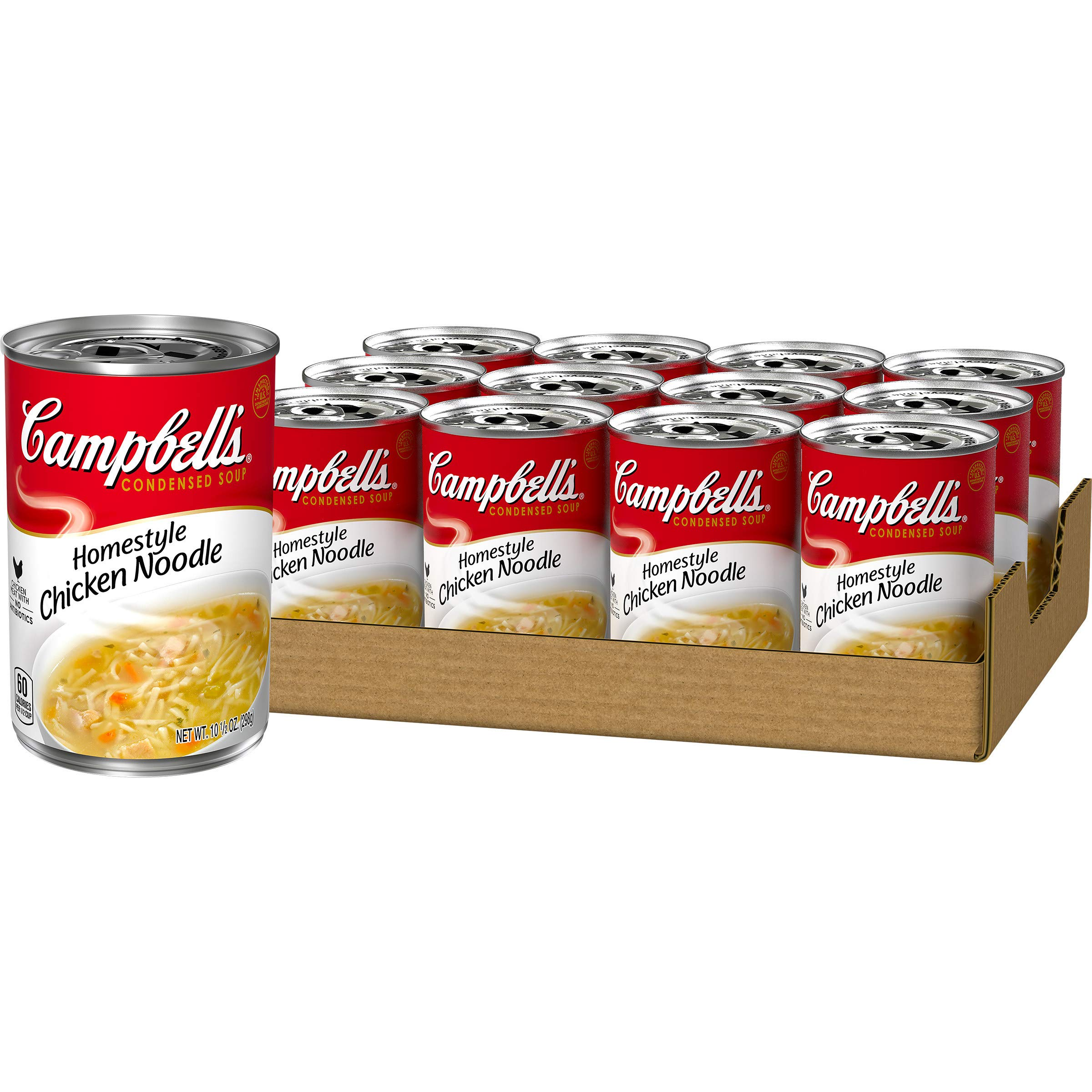 Campbell's Condensed Homestyle Chicken Noodle Soup, 10.5 Ounce (Pack of 12)