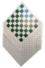 WE Games Tournament Roll Up Chess Board - Vinyl with Green Squares