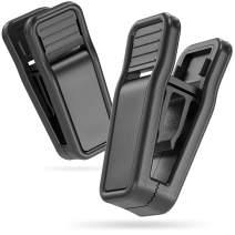 MEQI Plastic Finger Clips for Slim-line Clothes Hangers Set of 20 Black Hanger Clips