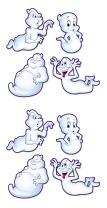 "Beistle , 8 Piece Ghost Cutouts, 15.5"" - 19"""