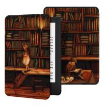 Ayotu Case for All-New Kindle(10th Gen, 2019 Release) - PU Leather Cover with Auto Wake/Sleep-Fits Amazon All-New Kindle 2019(Will not fit Kindle Paperwhite or Kindle Oasis),The Library