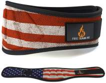 Fire Team Fit Weight Lifting Belt for Men and Women, 6 Inch, Bodybuilding & Fitness Back Support for Cross Training Workout, Squats, Lunges, Deadlift