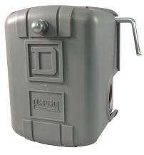 Square D by Schneider Electric 9013FSG2J24M4 Air-Pump Pressure Switch, NEMA 1, 40-60 psi Pressure Setting, 20-65 psi Cut-Out, 15-30 psi Adjustable Differential, Low-Pressure Cut-Off