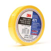 3M Vinyl Tape 471, 1 in x 36 yd, Yellow, 1 Roll, Paint Alternative for Floor Marking, Social Distancing, Color Coding, Safety Marking