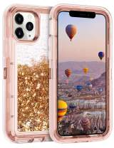Coolden Case for iPhone 11 Pro MAX Cases Protective Glitter Case for Women Girls Cute Bling Sparkle Heavy Duty Hard Shell Shockproof TPU Case for 2019 Release 6.5 Inches iPhone 11 Pro MAX, Rose Gold