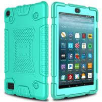 All-New Amazon Fire 7 Case, Elegant Choise Anti-Slip Soft Silicone Kid Friendly Shockproof Protective Case Cover for Amazon Kindle Fire 7 Tablet (7th Generation) 2017 Release (Turquoise)