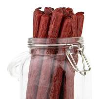 Large Jalapeno Best Meat Sticks Great Snack Sticks Low-Carb Beef Sticks Individually Wrapped Smoked Meat Snacks are Gluten Free Low Fat Extra Big 1.75 ounce each (6 Jerky Sticks) Bulk Beef Sticks