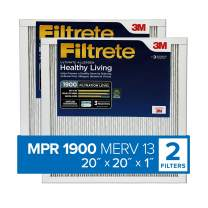 Filtrete 20x20x1, AC Furnace Air Filter, MPR 1900, Healthy Living Ultimate Allergen, 2-Pack