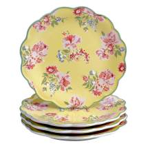 "Certified International English Garden 9"" Salad/Dessert Plate, Set of 4, Multicolored"