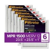 Filtrete 23.5x23.5x1, AC Furnace Air Filter, MPR 1500, Healthy Living Ultra Allergen, 6-Pack