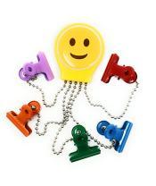 OctoClip Refrigerator Magnet – Fridge Organizer Locker Magnet Smile Emoji with Multi Colored Clips, 1 Pack