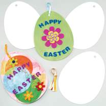 Baker Ross Easter Egg Cards, Arts and Card Crafts for Kids to Decorate and Gift (Pack of 12)
