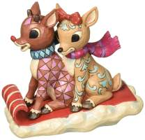 Enesco Traditions by Jim Shore Rudolph and Clarice Sledding 5.25 in Figurine