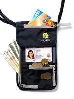 Passport Holder by Organizer Solution, Travel Wallet with Rfid, Black Neck Pouch