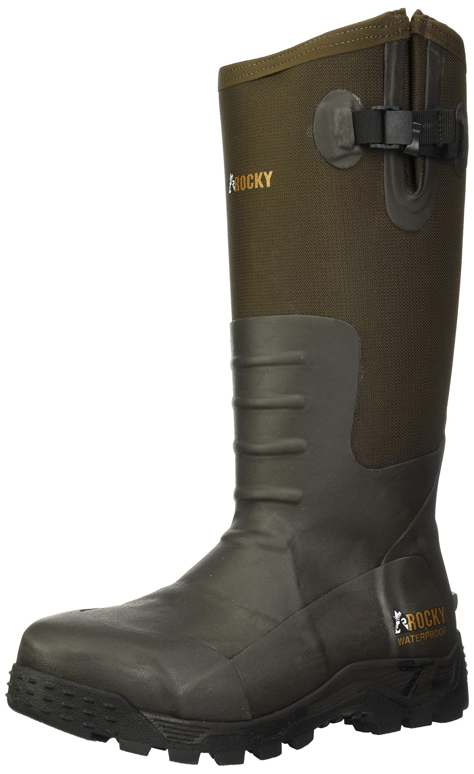 Rocky Men's Sport Pro Pull-on Rubber Snake Boot Knee High
