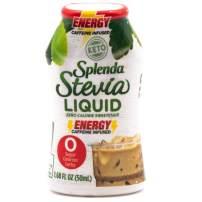 SPLENDA Stevia Liquid, Caffeine Infused Zero Calorie Sweetener Drops, 1.68 Fl Oz