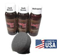 Leather Max Quick Blend Refinish and Repair Kit, Restore Couches, Recolor Furniture & Repair Car Seats, Jackets, Sofa, Boots / 3 Color Shades to Blend with/Leather Vinyl Bonded (Double Dark Browns)