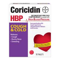 Coricidin HBP Antihistamine Cough & Cold Suppressant Tablets, 16 Tablets (Pack of 12)