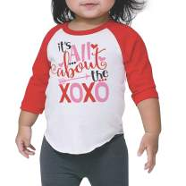Bump and Beyond Designs Toddler Kids It's All About The XOXO Valentine's Day 3/4 Shirt