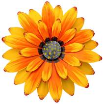EASICUTI Sunflower Metal Flowers Wall Decor Metal Wall Art Decorations Hanging for Indoor Outdoor Home Bathroom Kitchen Dining Room Bedroom Porch Hallway Or Wall Sculptures 12 Inch