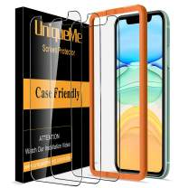 [3 Pack] UniqueMe Screen Protector for iPhone 11 / iPhone XR (6.1 inch) Tempered Glass, [Case Friendly] 9H Hardness [Alignment Frame Easy Installation] High Definition Bubble Free