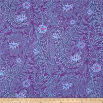 FreeSpirit Fabrics 0410820 Kaffe Fassett Ferns Purple Fabric by the Yard