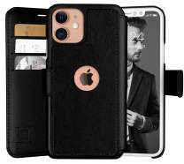 LUPA iPhone 11 Wallet Case -Slim iPhone 11 Flip Case with Credit Card Holder, for Women & Men, Faux Leather i Phone 11 Purse Cases with Magnetic Closure, Black
