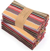 """Ruvanti Cloth Napkins 12 Pack(100% Cotton 20""""X20"""") Dinner Napkins,Soft&Comfortable Cotton Napkins. Red Salsa Stripe Colorful Linen Napkins for Family Dinners,Weddings,Cocktail Parties & Home Use."""
