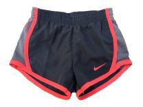 Nike Girls' Dry Tempo Running Shorts (Dark Grey (267358-G1A)/Vivid Pink, 3T)