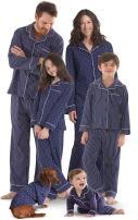 PajamaGram Family Pajamas Super Soft - Family Matching Pajamas, Navy