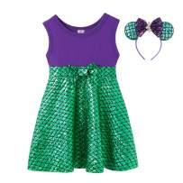 MUABABY Girls Summer Little Princess Toddler Kids Party Dress